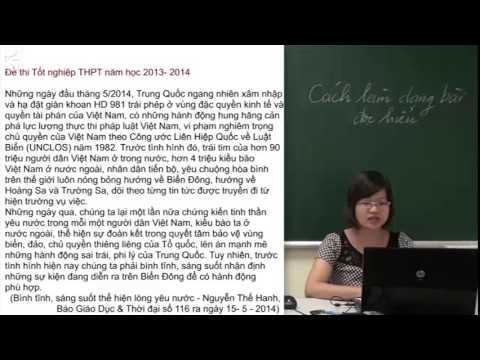 Luyện thi đại học môn ngữ Văn T1- Cách làm dạng bài đọc hiểu