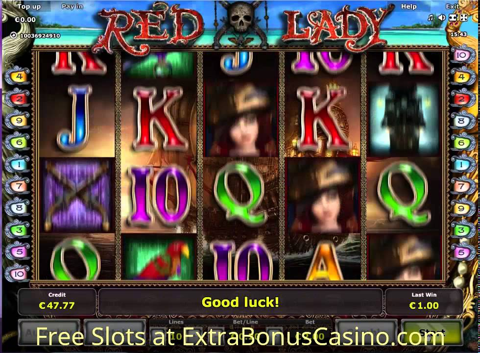 Red Lady Slot Machine - Free Online Casino Game by Novomatic