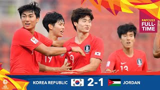 #AFCU23 M27 - KOREA REPUBLIC 2 - 1 JORDAN  : HIGHLIGHTS
