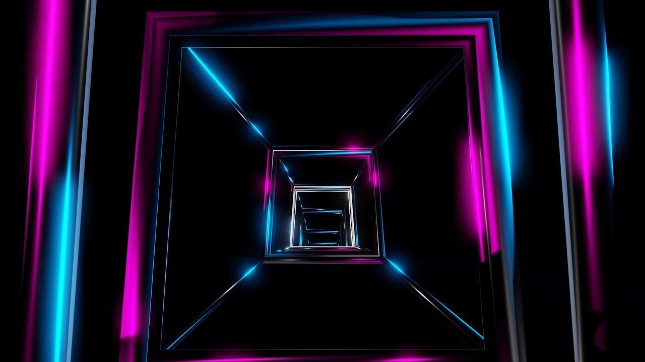 ► FREE Video Background Loop Footage | HD 1080p30 | Neon Lights Tunnel  #0259 ◄