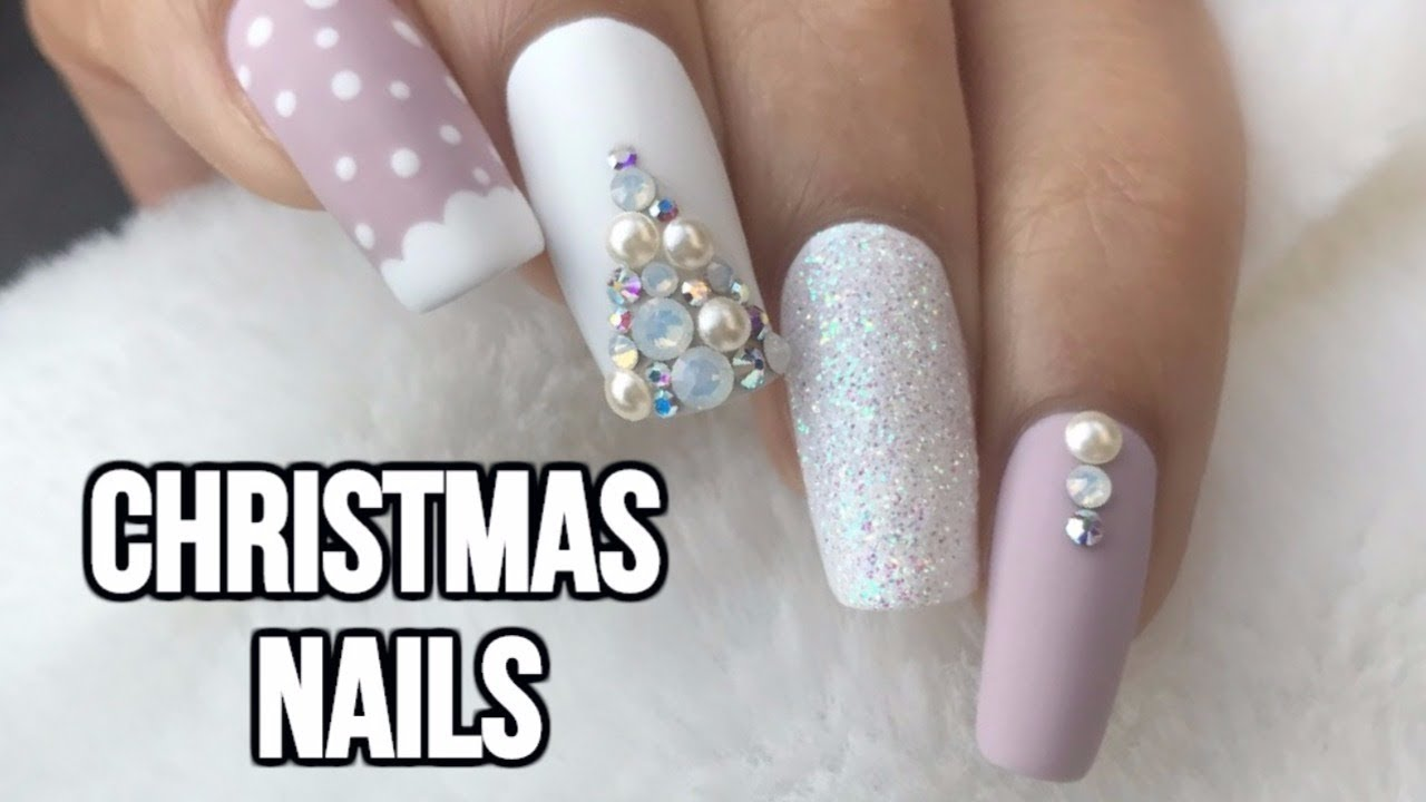 EASY CHRISTMAS NAILS - YouTube