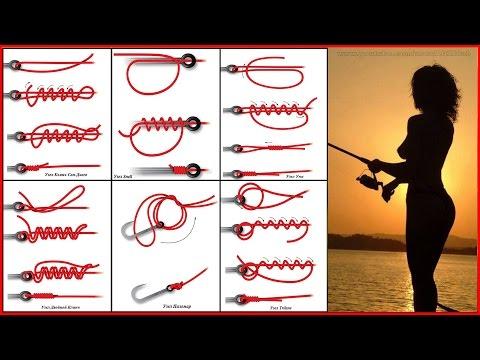 Как вязать основные рыболовные узлы для крючков и для поводков.