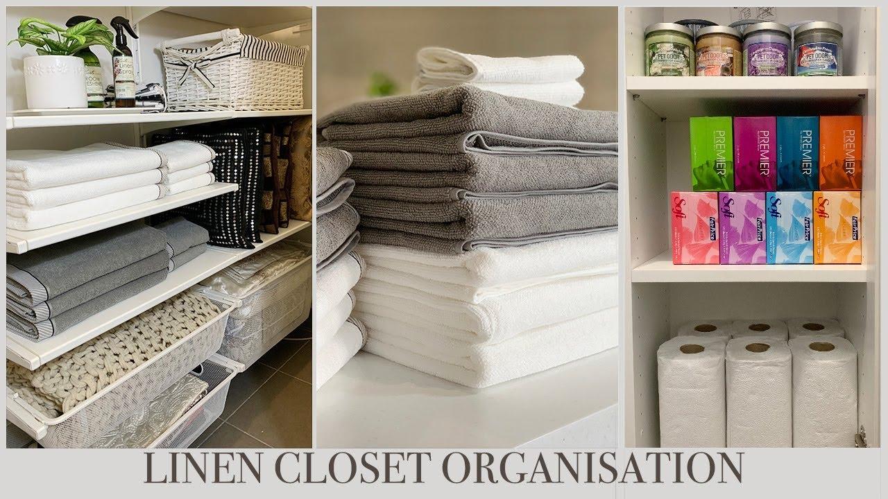 IKEA LINEN CLOSET ORGANIZATION
