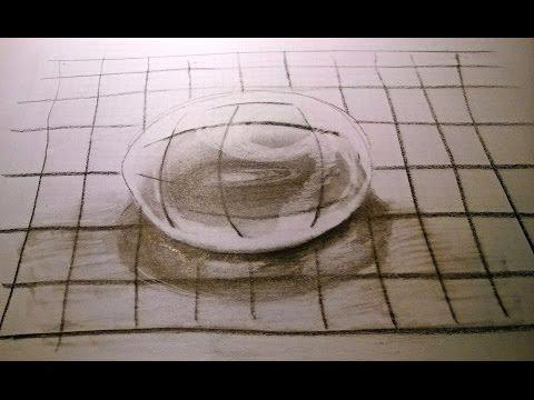 Water druppel tekenen in 3d voor beginners for Tekenen in 3d