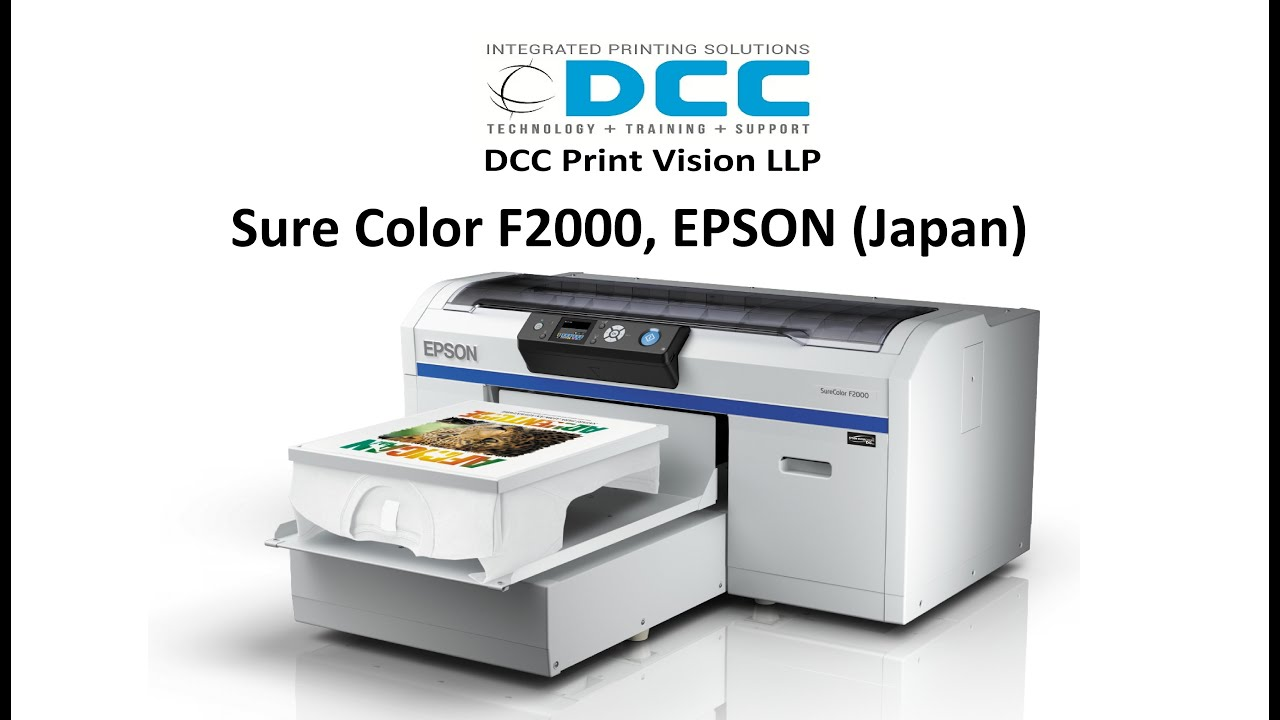 Epson surecolor sc f2000 t shirt printing process for dtg for Epson t shirt printer