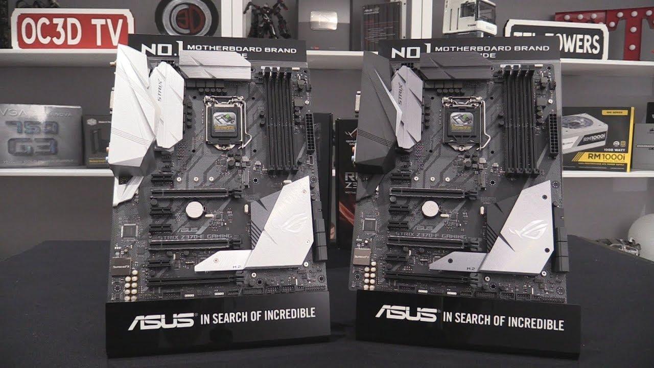 Asus ROG Strix Z370 E and Z370 F Preview and Comparison