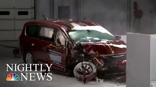 New Crash Safety Test Raises Concerns About Toyota Sienna | NBC Nightly News