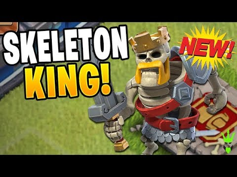 THE *NEW* SKELETON KING LEADS ARMIES OF THE UNDEAD! - Clash Of Clans