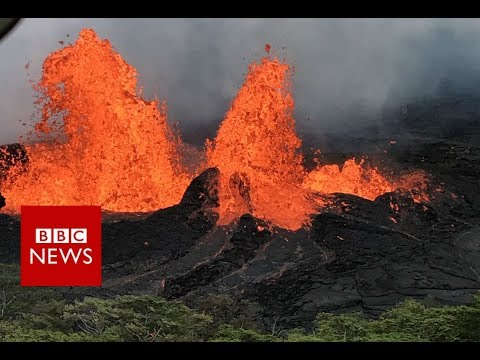 Hawaii volcano: When your home's next to a lava flow - BBC News
