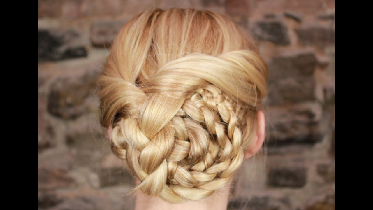 Easy Braided Updo Tutorial Youtube