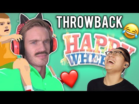 PEWDIEPIE - Here we go again (Happy Wheels #77) REACTION