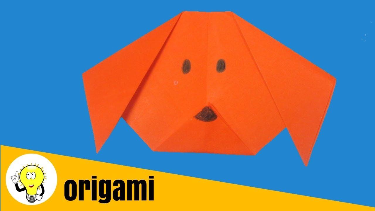 origami dog / cachorro origami fácil