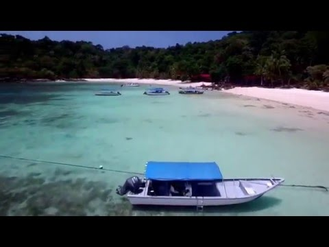 Tenggol Island arial drone video