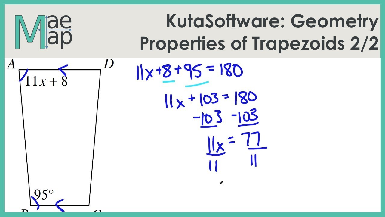 KutaSoftware: Geometry- Properties Of Trapezoids Part 2