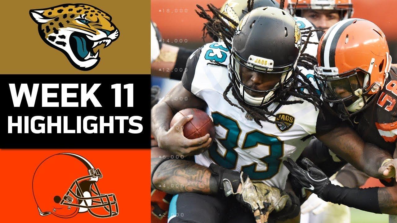 jaguars vs. browns | nfl week 11 game highlights - youtube