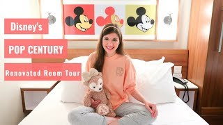 Disney's Pop Century Resort RENOVATED Refurbished Room Tour and Gondola Skyway Updates
