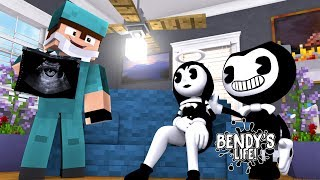 minecraft bendy s life ep 7 alice angel is pregnant with bendy s baby is it a boy or a girl