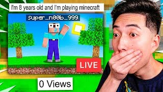 REACTING to MINECRAFT LIVESTREAMS with 0 VIEWERS!