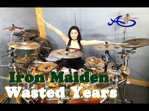 Iron Maiden - Wasted Years drum cover by Ami Kim (#55)