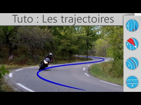 Comment prendre les trajectoires à moto