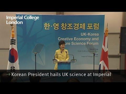 Korean President hails UK science at Imperial