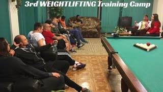 3rd WEIGHTLIFTING Training Camp / 4