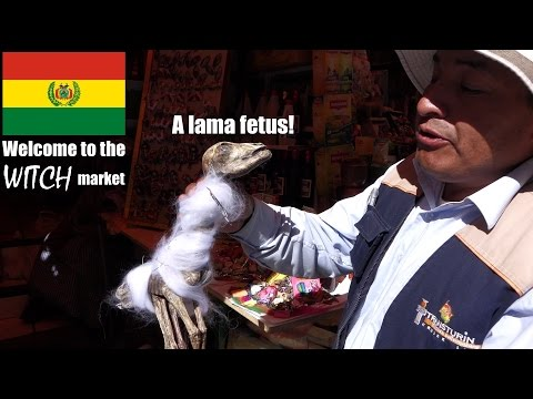 The WITCH Market in La Paz, BOLIVIA - My trip to South America