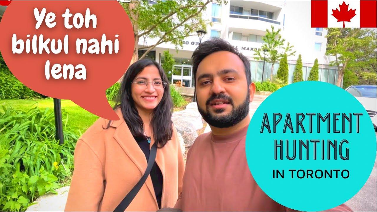 Ep 2 - APARTMENT HUNTING in Toronto with rent/prices | Hindi VLOG | Ye bilkul pasand nahi aaya