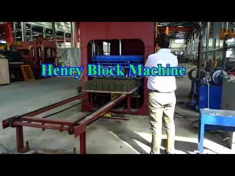 Henry QT10-15 full automatic concrete cement brick block making machine in Mexico