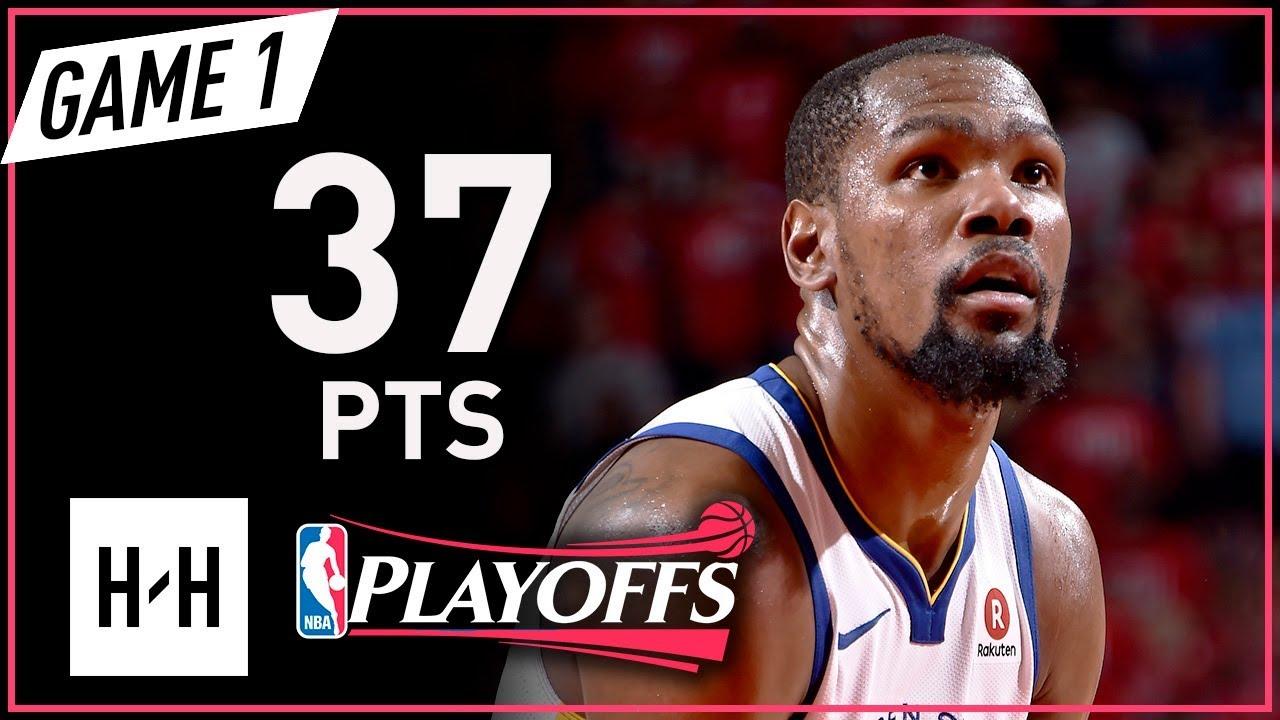 1e700d73c586 Kevin Durant Full Game 1 Highlights Warriors vs Rockets 2018 NBA Playoffs  WCF - 37 Pts