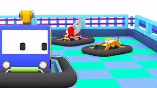 Video Os Carrinhos de Bate-Bate - Aprenda com os Mini Caminhões no parque de diversões | desenhos animados download MP3, 3GP, MP4, WEBM, AVI, FLV Agustus 2018