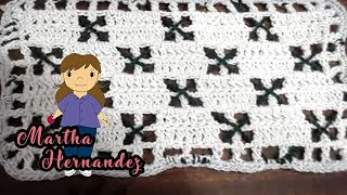 Repeat youtube video Cobija o Colcha para Bebe  en Crochet Yolis