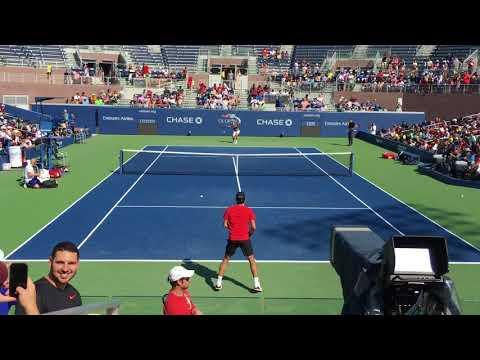 Roger Federer  practice : US Open 2017 - HD