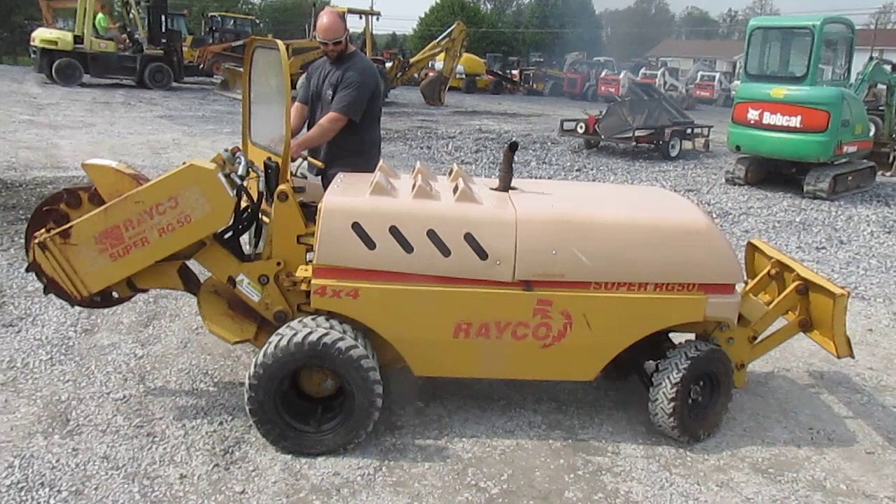 rayco rg50 stump grinder youtube rh youtube com rayco rg 50 service manual rayco rg50 parts manual