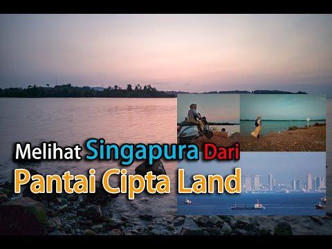 Melihat Singapura Dari Pantai Cipta Land Batam
