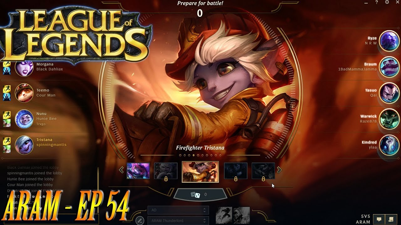 League Of Legends Aram Ep 54 Tristana 5 1 25 Victory Youtube Best build guides, aram runes, spells and items for tristana. youtube