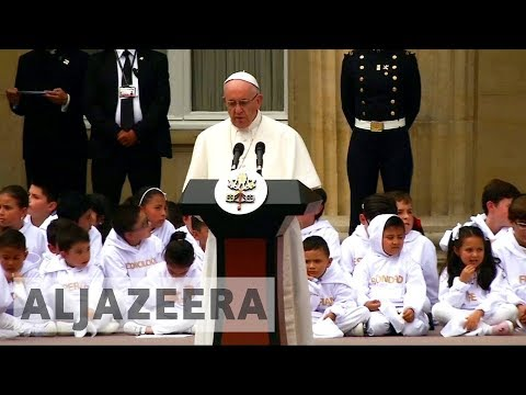 For some Colombians, Pope's visit highlights political divisions