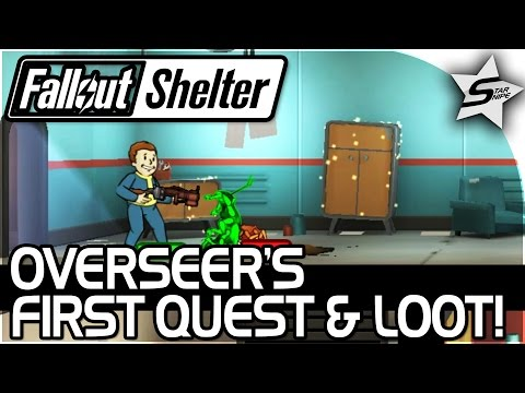 FIRST QUEST, LOOT, Overseer's Office Quest, Medical Production! - Fallout Shelter Gameplay Part 2 PC