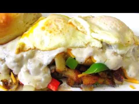 ULTIMATE Hangover Hash Browns with Sausage Gravy – Breakfast Recipe