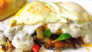 ULTIMATE Hangover Hash Browns with Sausage Gravy - Breakfast Recipe