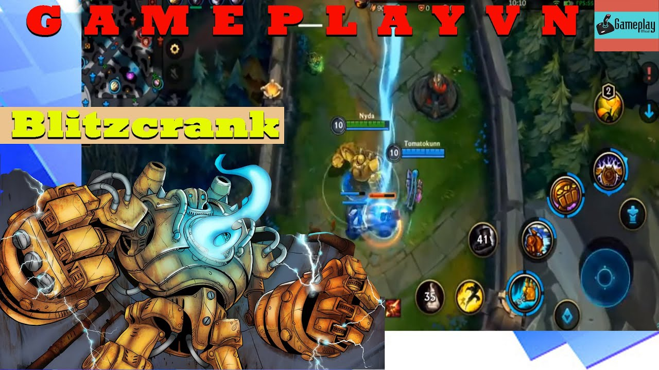 League of Legends - Wild Rift  Gameplay Blitzcrank lol mobile