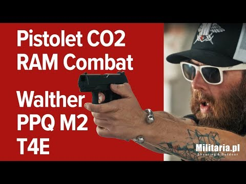 Bez zezwolenia - Pistolet CO2 RAM Combat Walther PPQ M2 T4E
