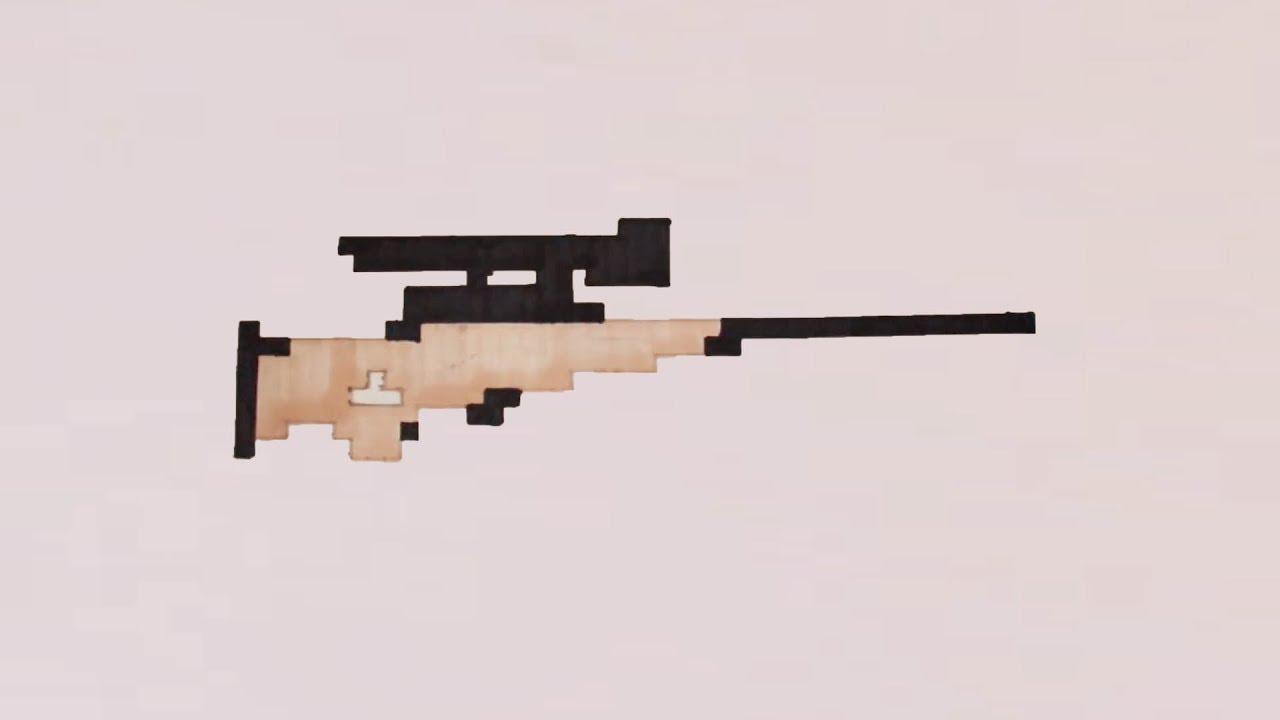 Comment Dessiner Un Sniper De Fortnite Pixel Art