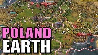 Civ 6: Poland Gameplay [True Start Earth Location Map] Let's Play Civilization 6 Poland | Part 4