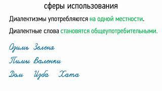 Лексика русского языка с точки зрения сферы обслуживания (5 класс, видеоурок-презентация)