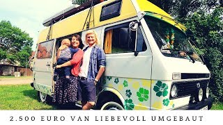Family lives full-time in the self-converted VW LT - even with urinal!