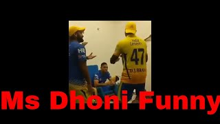 Ms Dhoni Funny Laugh with Dj Bravo