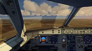 Cockpit Airbus A320 landing at Denver ++ Aerofly FS 2