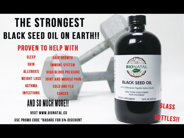 The best BioNatal black seed oil review on YouTube