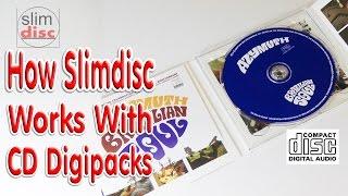 SlimDisc CD How to Store CD Digipacks Demonstration Video